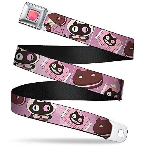 Cookie Cat Pose/sandwich Pinks/browns/white Seatbelt Belt