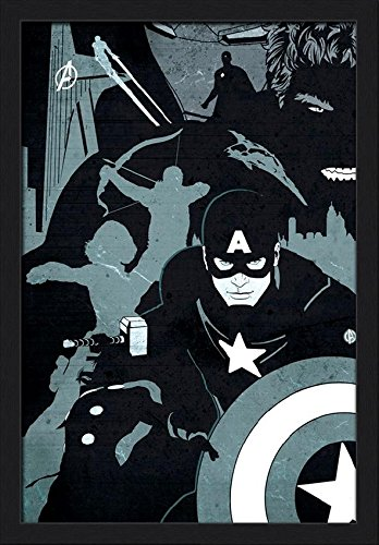 Pyramid America Avengers Black And White Marvel Comics Super