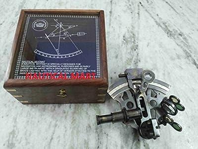 Vintage German Sextant With Wooden Box Antique Finish- Nauticalmart