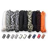 Paracord Planet Survival & Emergency Paracord Bracelet Kits (Cobra Braid Instructions Included) Unique