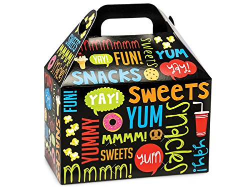 Pack Of 6, Snack Attack Gable Boxes 8.5 X 4.75 X 5.5