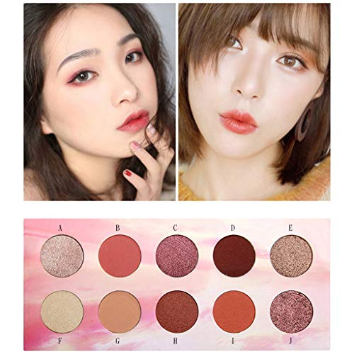 Color Makeup Dish10 Eyeshadow Palette Hue Lubricating Color Makeup Pan Sunset Blinking Bright Eyeshadow Palette