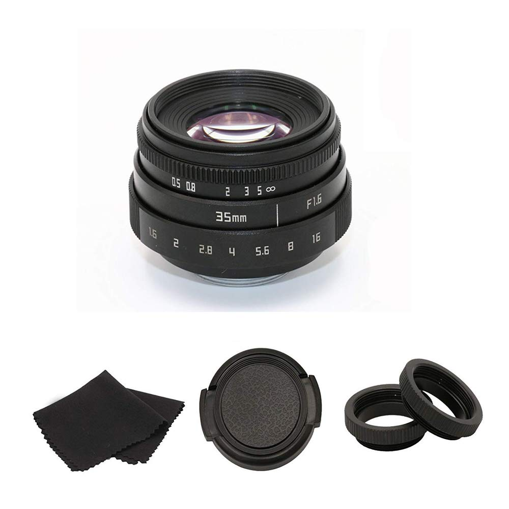 35mm F1.6 APS-C Television TV Lens/CCTV Lens For 16mm C Mount Camera by LIRANK
