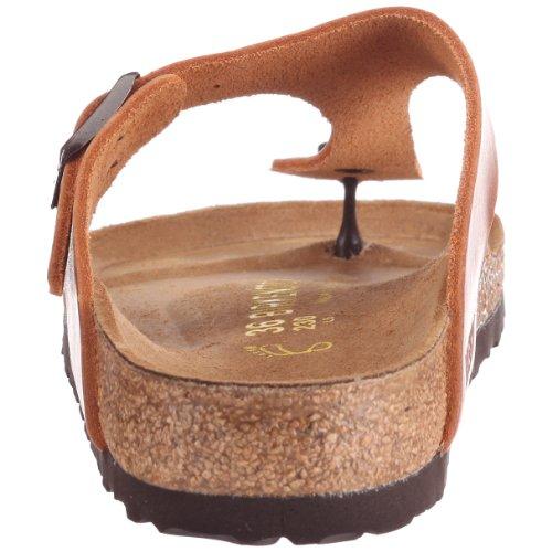 Birkenstock Gizeh - Sandalias de dedo de cuero suave unisex Marrón (Antik Braun)