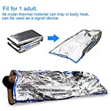 EMDMAK Emergency Mylar Thermal Survival Tent and Sleeping bag Survival Shelter for Camping Hiking Travelling or Adventures (Pack of 2)