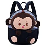 Your Gallery Baby's Cute 3D Monkey Little Backpack Plush Bag for Toddlers Kids, navy