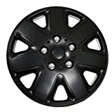 hubcaps nissan altima 2010 - TuningPros WSC-026B16 Hubcaps Wheel Skin Cover 16-Inches Matte Black Set of 4