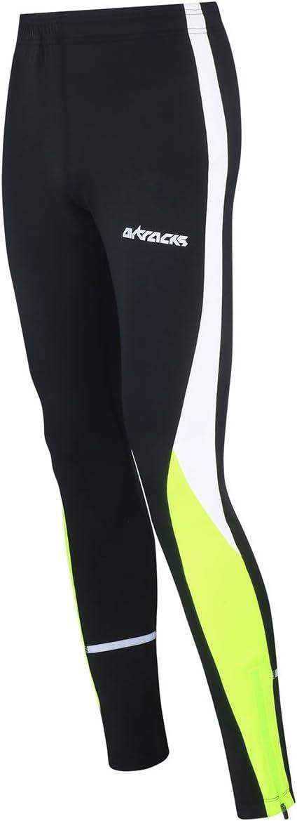 AIRTRACKS Long Pantalon de Course//Running pour Femme//Homme ou Femme Multifonction//Respirant//Compression//r/éflecteurs