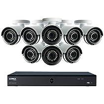 Lorex by FLIR LHA42162TC8B 16-Channel MPX 1080p HD 2TB DVR with 8 Weatherproof IR Cameras