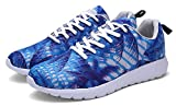 ZHENZHONG Women's Cool Fashion Sneakers Running Sport Shoes Blue for Walking Jogging