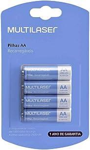 Pilhas Recarregáveis Aa Multilaser 2500Mah Com 4 Unidades - CB052