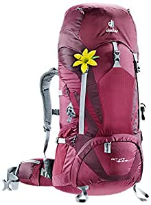 Deuter Act Lite 45+10 SL Women's Hiking Backpack - Discontinued, BlackBerry/Aubergine