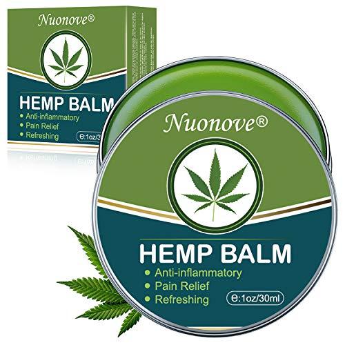 Hemp Balm, Hemp Cream, Hemp Pain Relief Cream, Natural Hemp Ointment for Relief the Pain, Relief/Relax Inflammation, Muscle, Back, Knee, Nerves and Arthritis Pain, Sleep Support, 30ml