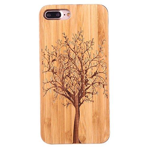 Mobile protection Para el iPhone 7 más artístico talla patrón de diente de león de bambú de carbono + PC bordadura protectora caso trasero de la caja ( SKU : Ip7p1453a ) Ip7p1453f