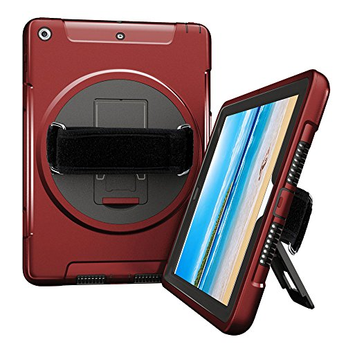 iPad Case 9.7 2017, Full-body Rugged Shockproof Protective C