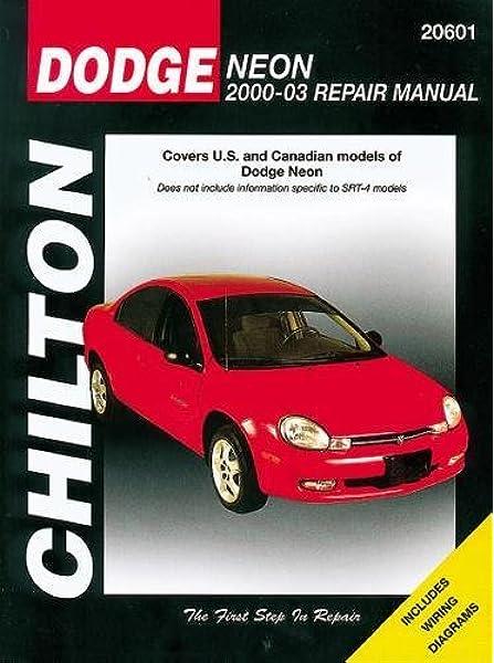 Dodge Neon 2000 2005 Chilton S Total Car Care Repair Manuals Chilton 9781563926709 Amazon Com Books