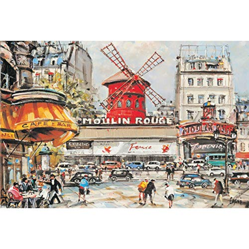 - Moulin Rouge 1000 Pieces Wooden Puzzle Landscape Jigsaws Puzzle for Adult Assembling Toy Children's Educational Gift Toys