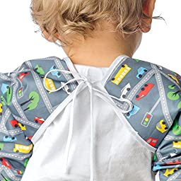 Bumkins Waterproof Sleeved Bib, Love Birds (6-24 Months)