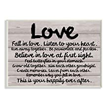 The Stupell Home Decor Collection Love Typography Wood Plank Inspirational Art Wall Plaque