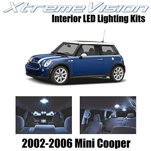 XtremeVision Interior LED for Mini Cooper 2002-2006 (7 Pieces) Cool White Interior LED Kit + Installation Tool - Mini Cooper Interior Kit
