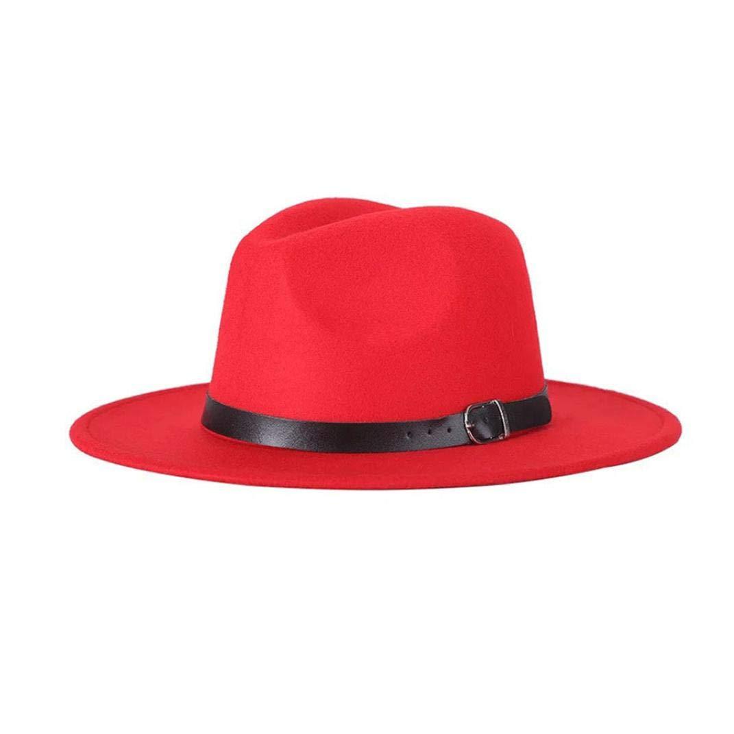 Culer M/änner Frauen Panama-Hut-G/ürtelschnalle Fedora-Hut Mit Wide Brim