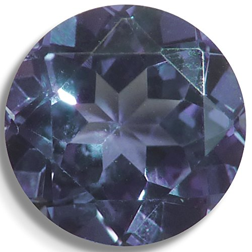 Lab Sapphire Alexandrite Color Change Round Brilliant Loose Unset Gem (6mm)