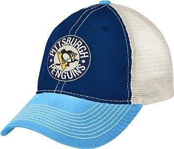 Pittsburgh Penguins CCM Throwback Vintage Meshback Slouch Hat ... ce545f3827dc