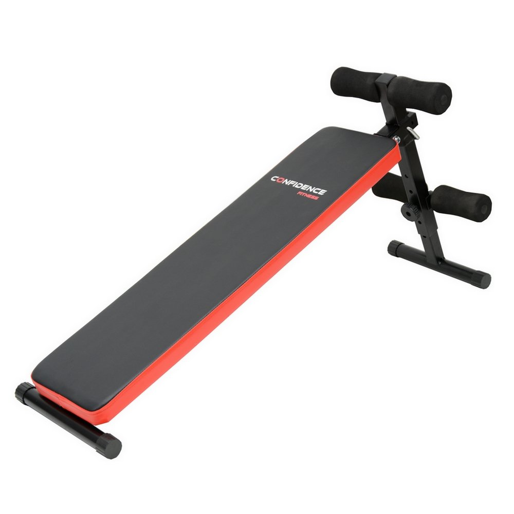 Confidence Fitness Pro Adjustable Sit Up Ab Bench V2 by Confidence