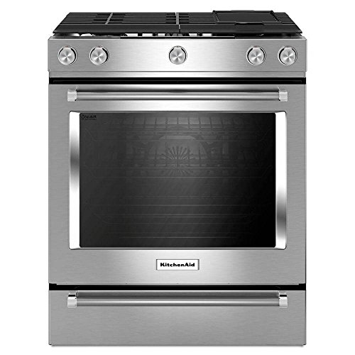 Kitchen Aid KSGB900ESS 6.5 Cu. Ft. Slide-In Stainless Steel Gas Range KSGB900ESS