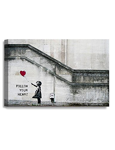 DecorArts - There is always hope. Personalized Graffiti artwork with Banksy, Street Art. Giclee prints on Canvas, Gallery Wrap, 18x12x1.5