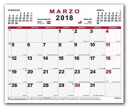 Calendario Mensual Pared MYRGA 2019 (30x24,7 cm): Amazon.es ...