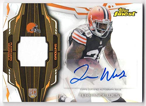 Terrance West 2014 Topps Finest Rookie Refractor Autograph Patch JSY #RAP-TW NM-MT RC Rookie MEM Auto Browns Football NFL from Finest