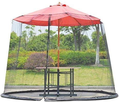 HYLHガーデン蚊カバーパラソルネット大型アンチテント軽量とポータブル傘テーブル画面ネット用ガゼボパラソル
