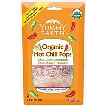 Yummy Earth Organic Lollipops Hot Chili -- 3 oz