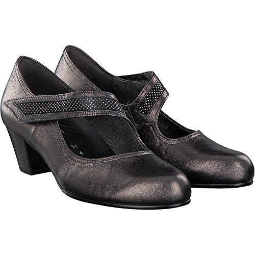 Gabor 76.147.17 - Zapatos de vestir de cuero repujado para mujer negro
