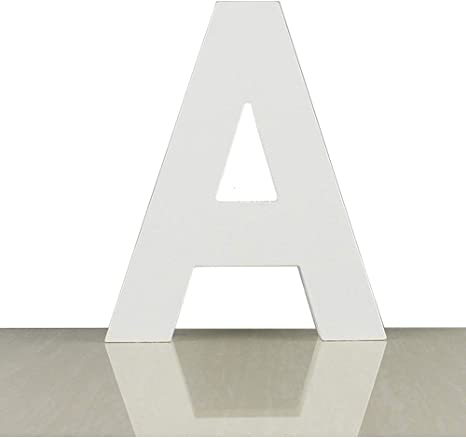 M Extra Large Wood Decor Letters Wood Distressed White Letters DIY Block Words Sign Alphabet Free Standing Hanging for Home Bedroom Office Wedding Party