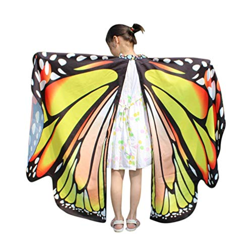 Kid Baby Girl Butterfly Wings Shawl Scarves Nymph Pixie Halloween Party Costume -