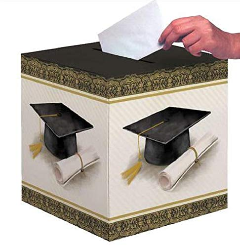 Creative Converting Party Creations Classic Graduation Card Holder Box | Cap and Gown | Diploma (2-Pack)]()