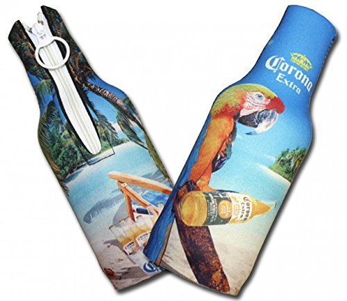 - Corona Extra Neoprene Bottle Suits - Parrot | Beer Bottle Koozies - Set of 2