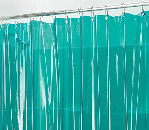 mDesign Vinyl 4.8 Gauge Waterproof Shower Curtain Liner - 72