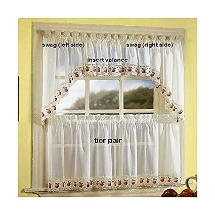 apple orchard kitchen curtain insert valance - Orchard Kitchen