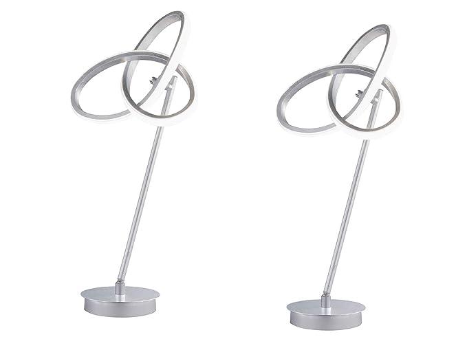 Juego de 2 lámparas de mesa LED de diseño llamativo, color ...