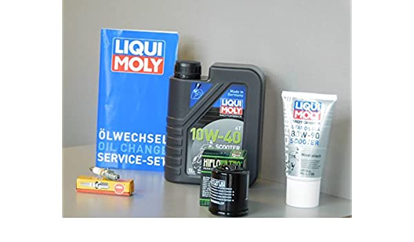 Kit de mantenimiento Piaggio X8 125 Aceite de aceite Bujía Service Inspección ölwechsel: Amazon.es: Coche y moto