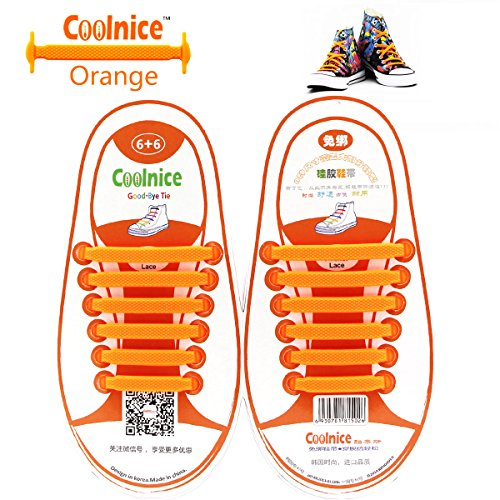 Coolnice No Tie Flat Shoelaces for Kids, Men & Women | Waterproof & Stretchy Silicone Tieless Shoe Laces | for Hiking Boots Sneaker & Casual Dress Athletic Shoes | Eliminate Loose Shoelace Accidents