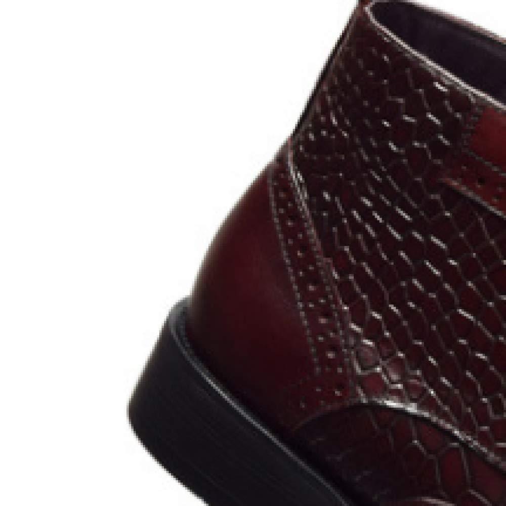 XDLJL Trendy Herren Stiefel High Top Schuhe Herren Herrenschuhe Geprägte Stone Pattern Professional Herrenschuhe Herren Leder Zu Create schwarz 24f302
