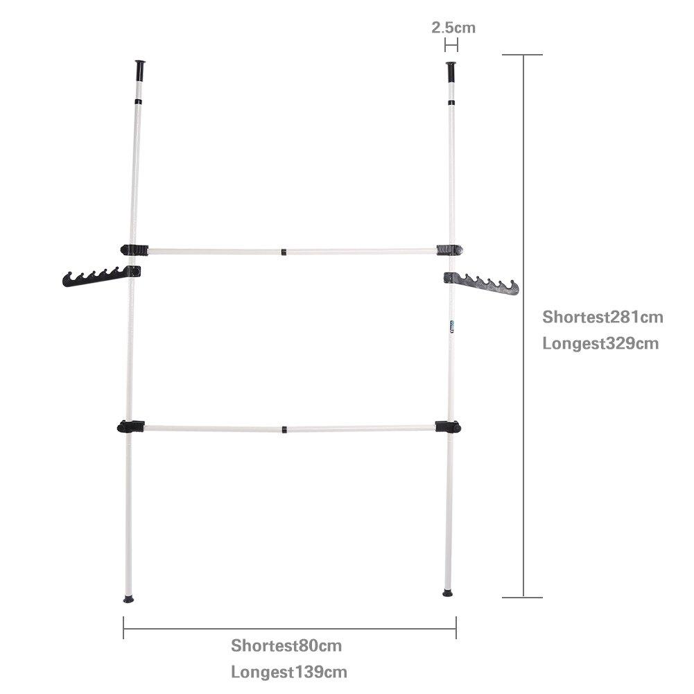 CUSCO Set de Garde-Robe T/él/éscopique Syst/èmes de Penderie Extensible Hauteur et Largeur Ajustable Porte-V/êtements Manteaux Chemisiers et Robes Chambre 2 Poteaux 2 Barres