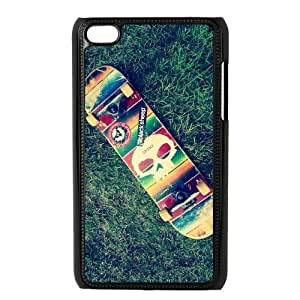 Custom Your Own Skateboard Grass Nature Photo Ipod Touch 4 case , Special designer Skateboard Ipod 4 Case