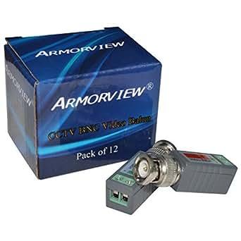 Armorview 6 PAIRS (12 Pcs) Mini CCTV BNC Video Balun
