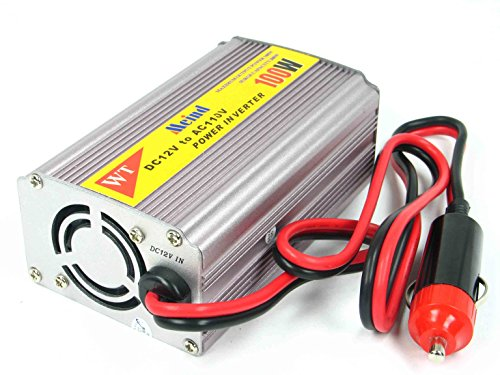 Meind Modified sine wave Car power inverter 100W DC 12V to AC 110V power converter with USB Use in the car (100w Power Inverter)