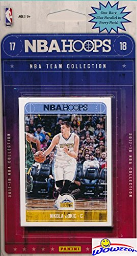 fan products of Denver Nuggets 2017/18 Panini Hoops NBA Basketball EXCLUSIVE Factory Sealed Limited Edition 12 Card Team Set with Paul Millsap, Tyler Lyndon Rookie & Many More! Shipped in Bubble Mailer! WOWZZER!